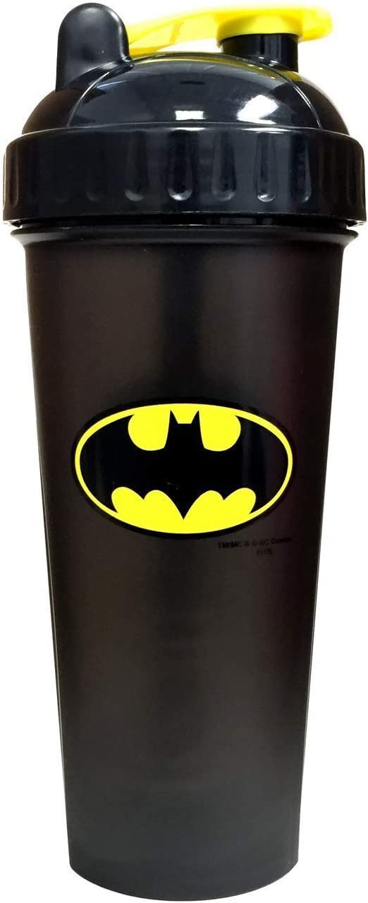 PerfectShaker Actio Performa Perfect Shaker-DC Comics Original Series, Best Leak Free Bottle With Actionrod Mixing Technology For Your Sports & Fitness Needs Dishwashe, Batman