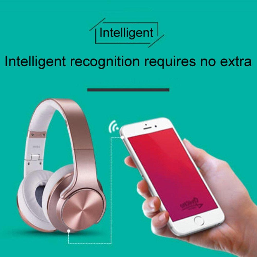 Auriculares de diadema para iPhone, Samsung, iPad, reproductor de mp3 y más, auriculares 2 en 1 con Bluetooth, bidireccionales, inalámbricos, radio FM, de ...