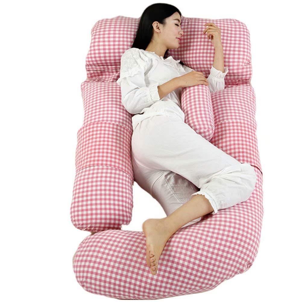 いびき対策 背もたれ U型抱き枕 授乳クッション 妊婦 抱き枕 抱かれ枕 クッション マタニティ (ブルー) 多機能 75*180cm