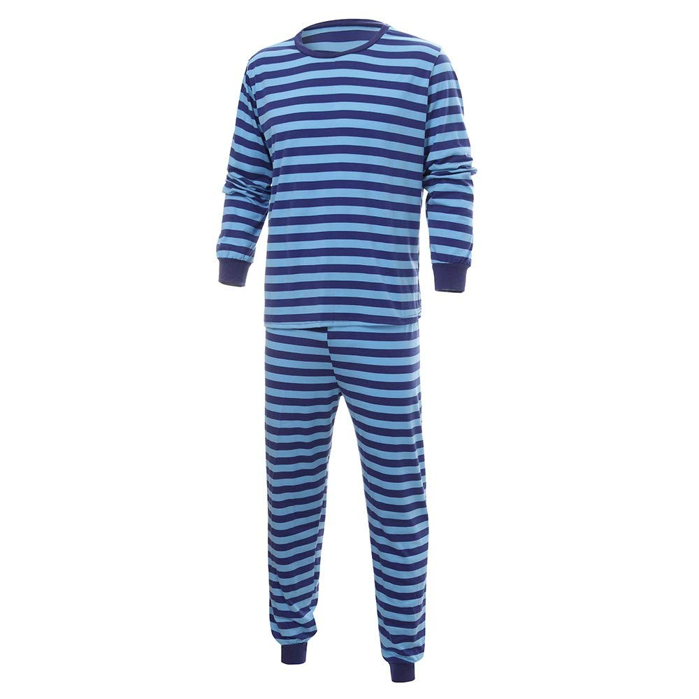 Family Matching Christmas Pajamas Set Toddler Baby Long Sleeves Stripe Print Romper Jumpsuit Family Clothes