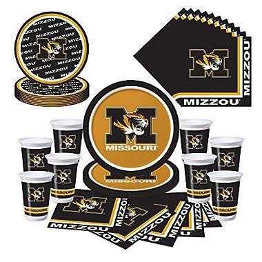 Mizzou Missouri Tigers 36-Piece Party Pack - Plates, Cups, Napkins
