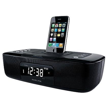 Amazon com: Memorex Dual Alarm Clock Radio for iPhone/iPod