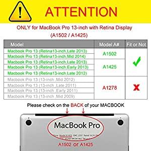 "Fintie MacBook Pro 13 Retina Case - Slim Lightweight PU Leather Coated Plastic Hard Cover Snap On Protective Case for MacBook Pro 13.3"" with Retina Display (A1502 / A1425), Love Tree"