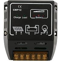 Controlador solar, controlador de carga solar 20A 12V/24V protección contra sobrecarga protección contra sobrecarga…