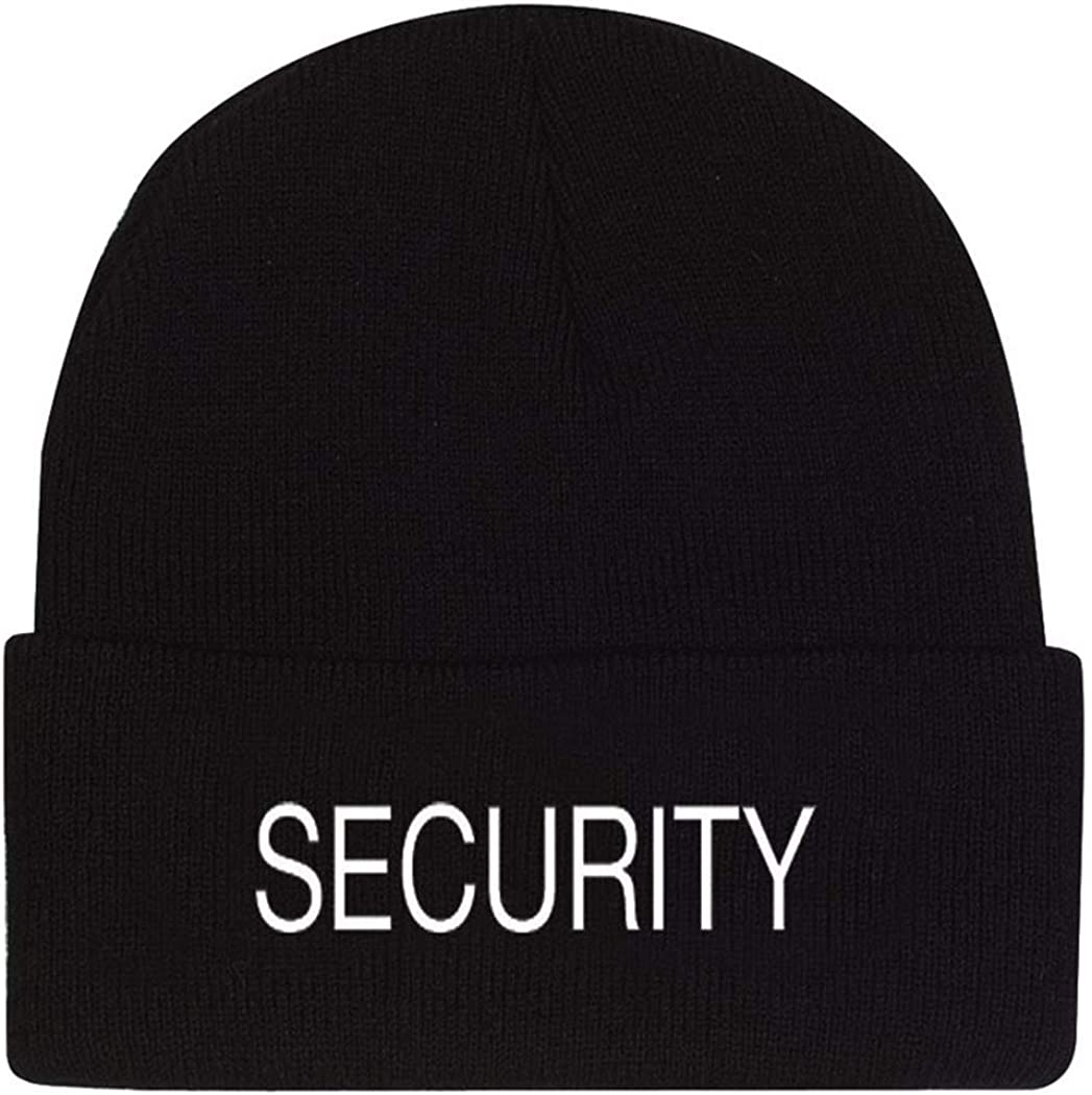 Rothco Public Safety Embroidered Watch Cap, Security Black
