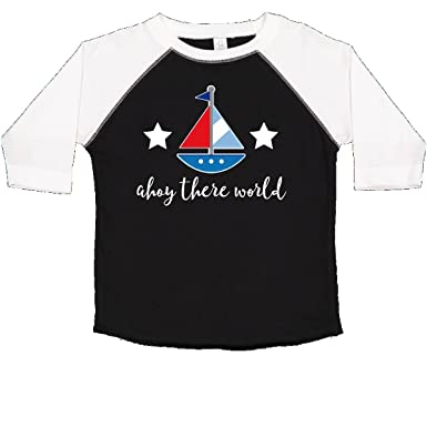 a45f997da inktastic - Nautical Baby Boy Ahoy Toddler T-Shirt 2T Black and White 2ae7e