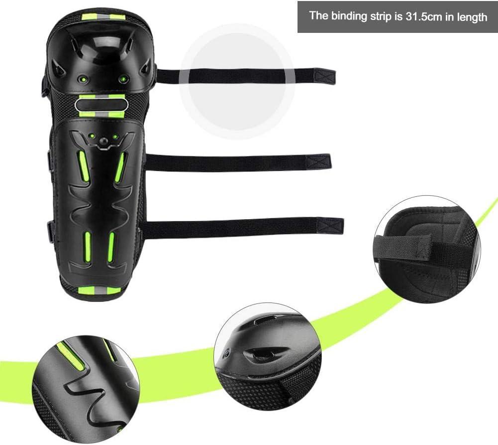 infrangibili Ginocchiere e parastinchi Antivento FORYOURS Set di 4 Protezioni per Gomiti Moto e Moto per Motocross Gomito Colore: Nero Ciclismo