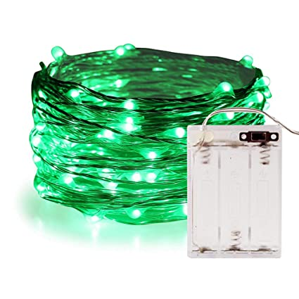 timeless design f2b9c 4ee0e Green Fairy Lights,ANJAYLIA 16.5Ft/5M 50leds Led String Lights St.  Patrick's Day Decorations Lights(Green)