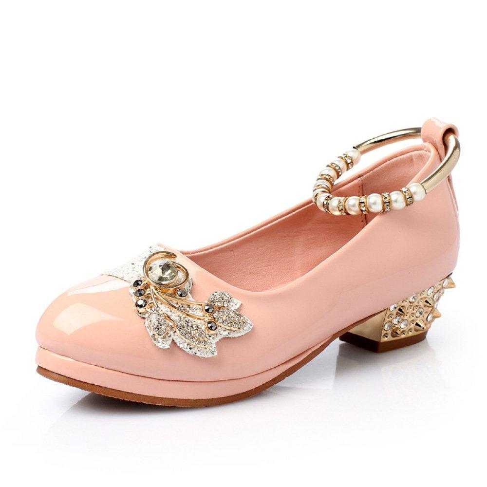 SBL Schuh-Mädchenschuhe der weißen Schulkinder des Herbstes weiße,Rosa,35