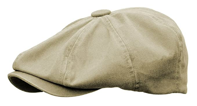 ac699d4f31c3 Rooster Washed Cotton Newsboy Gatsby Ivy Cap Golf Cabbie Driving Hat  (Large, Khaki)