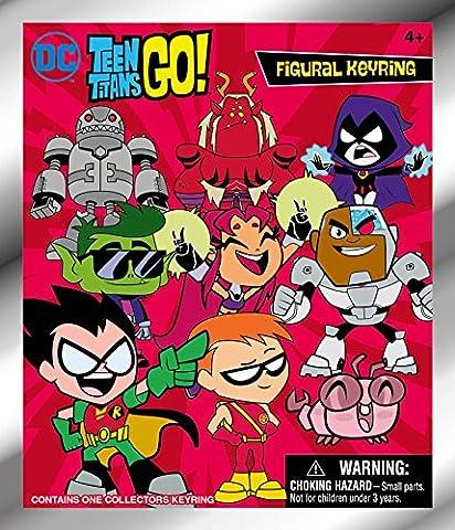 DC Teen Titans GO! 3D Foam Blind Bag Key Chains Action Figure (Dc Figures Beast Boy)