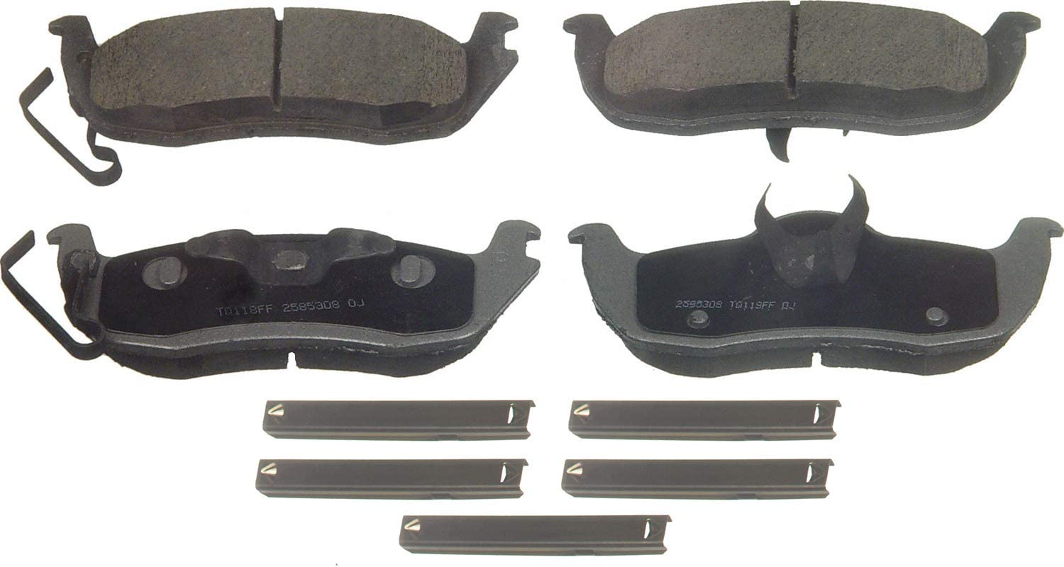 FRONT + REAR SET Wagner ThermoQuiet Ceramic Disc Brake Pads WG97605
