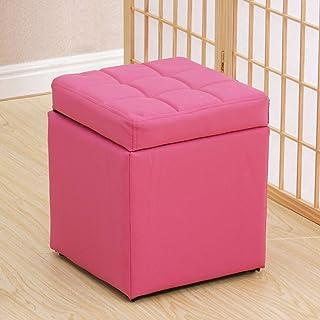 Poggiapiedi Casa Pouffes Divanetto Sgabelli da 150 kg Sgabello Xin® (Colore : Rosa Rossa, Dimensioni : 40 * 40 * 40cm)
