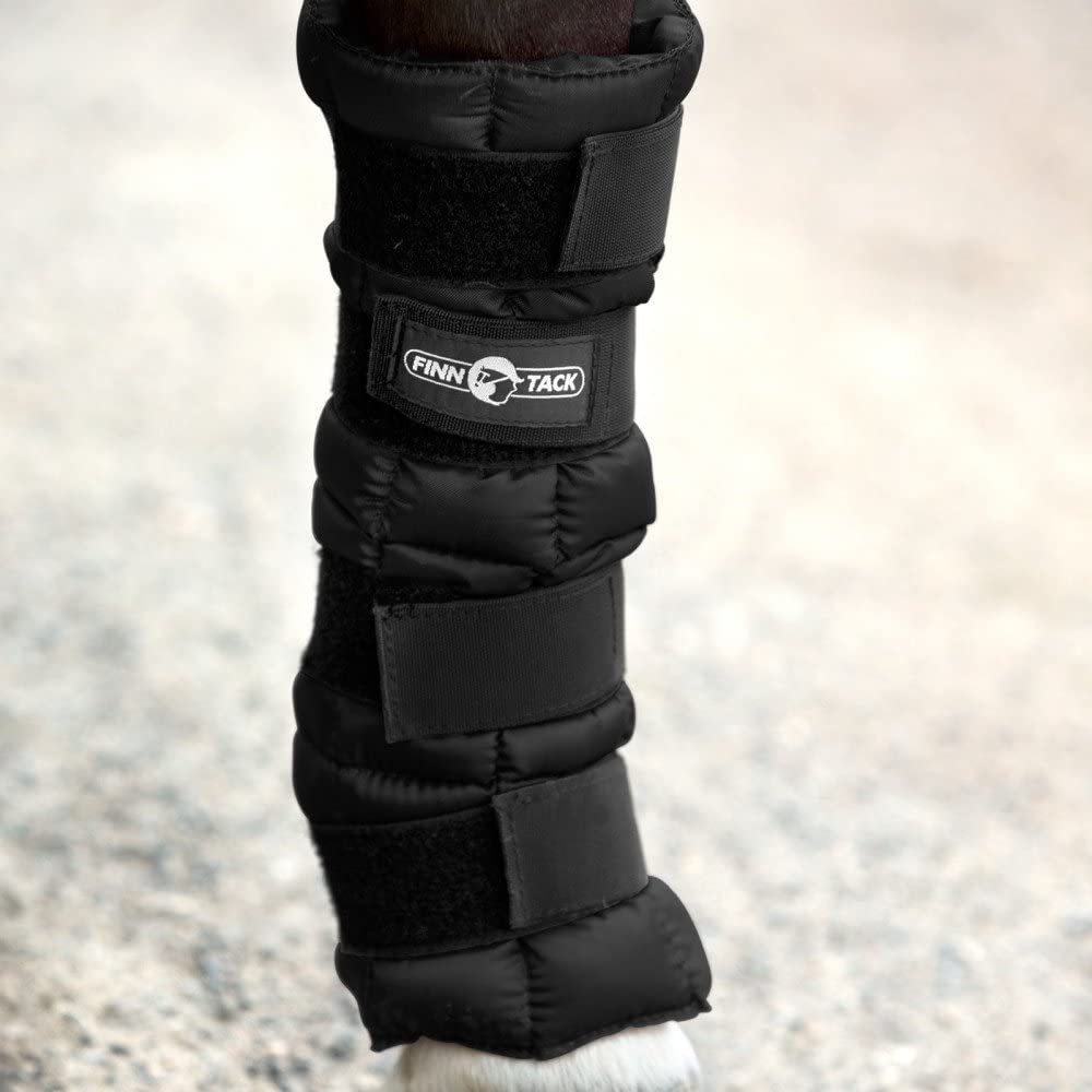 Horze Finntack Pro Cooling Wrap Therapy Horse Boot One Size Black