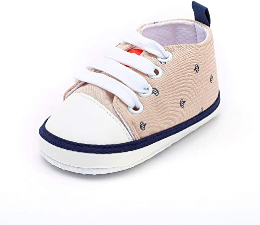 BABY BOYS NAVY BLUE WHITE NO LACES TRAINERS SHOES SIZE 3-6 MONTHS