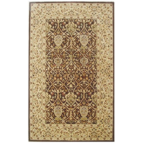 Safavieh Persian Legend Collection PL819J Handmade Traditional Brown and Beige Wool Area Rug (5' x (Beige Persian Wool Rug)