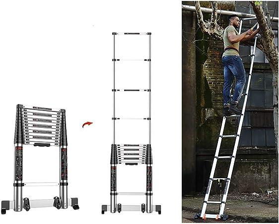 Escalera telescópica Escalera De Extensión Telescópica Extra Alta De 6 M / 20 Pies, Rectas Plegables De Aluminio para El Hogar Industrial Bricolaje, Carga Máxima 300 Kg / 660 LB: Amazon.es: Hogar