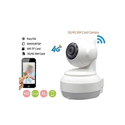 Amazon.com: 3G 4G tarjeta SIM móvil cámara IP HD 720P ...