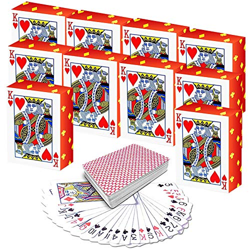 Casino Birthday Ideas (Zoey Fun Mini Playing Cards (Pack of 10) for Kids - Miniature Set | Great Party Favors or Novelty Gift for Boys and Girls | Perfect Decoration Idea for Casino)