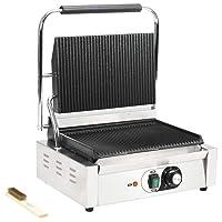 Kontaktgrill vidaXL 2200W silber klein Doubleplate Heater Balkon ✔ eckig ✔ Grillen mit Elektrogrill ✔ für den Tisch