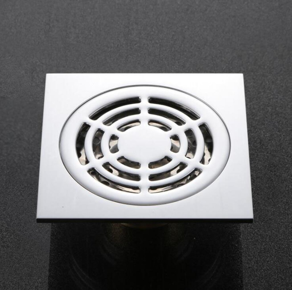 Ludage Todo el Cobre Anti-apestan un desag/üe en el Suelo rebotan Anti-olores b/ásicos de Drenaje Ducha WC un desag/üe en el Suelo