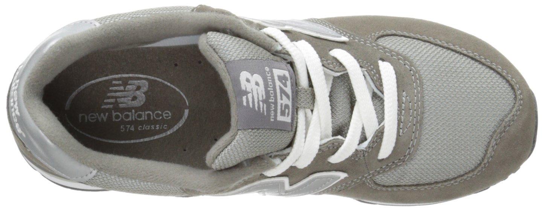 New Balance KL574 Grade Running Shoe (Big Kid), Grey/Silver, 4.5 M US Toddler by New Balance (Image #7)