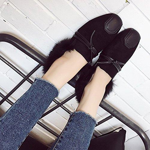EUR34 de 5 Arco Tatuaje de Zapatos Planos Zapatos caqui Profunda Solo Zapatos Cabeza Mujer Zapatos Boca Cómodos de Femenino TSvcqwxH