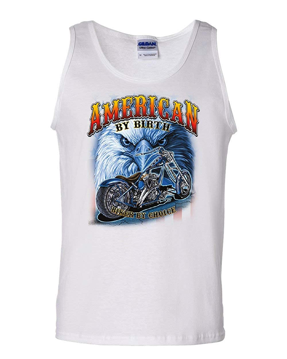 American by Birth Biker by Choice Tank Top Route 66 Bald Eagle Sleeveless