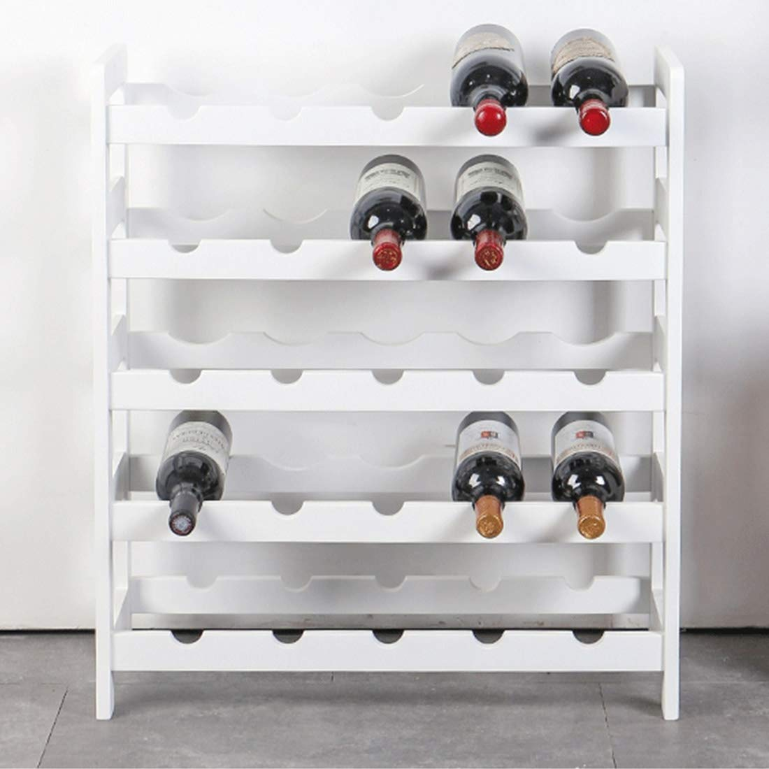 Songlin@yuan European Simple Wooden Multi-Layer Solid Wood Wine Rack Display Stand, Restaurant Wine Cabinet Wine Rack práctico