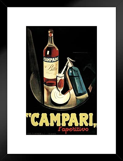 Poster Foundry Marcello Nizzoli Campari Laperitivo Alcohol Liqueur Vintage Advertising Matted Framed Wall Art Print 20×26