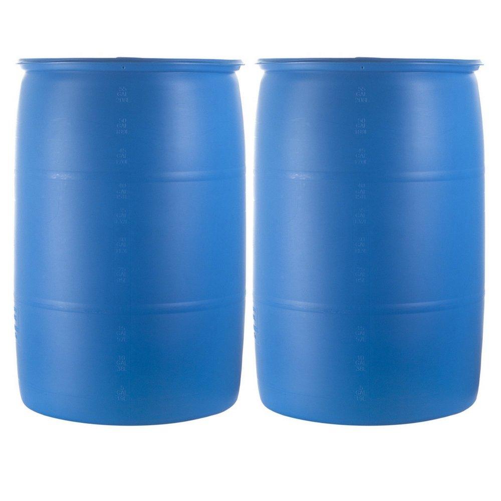 Emergency Essentials Water Barrel - 55 Gallon Drum (2 drum)