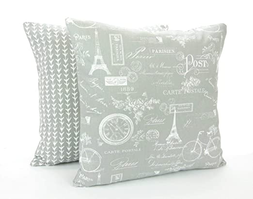 Mike21Browne - Funda de Almohada Decorativa, Color Gris y ...