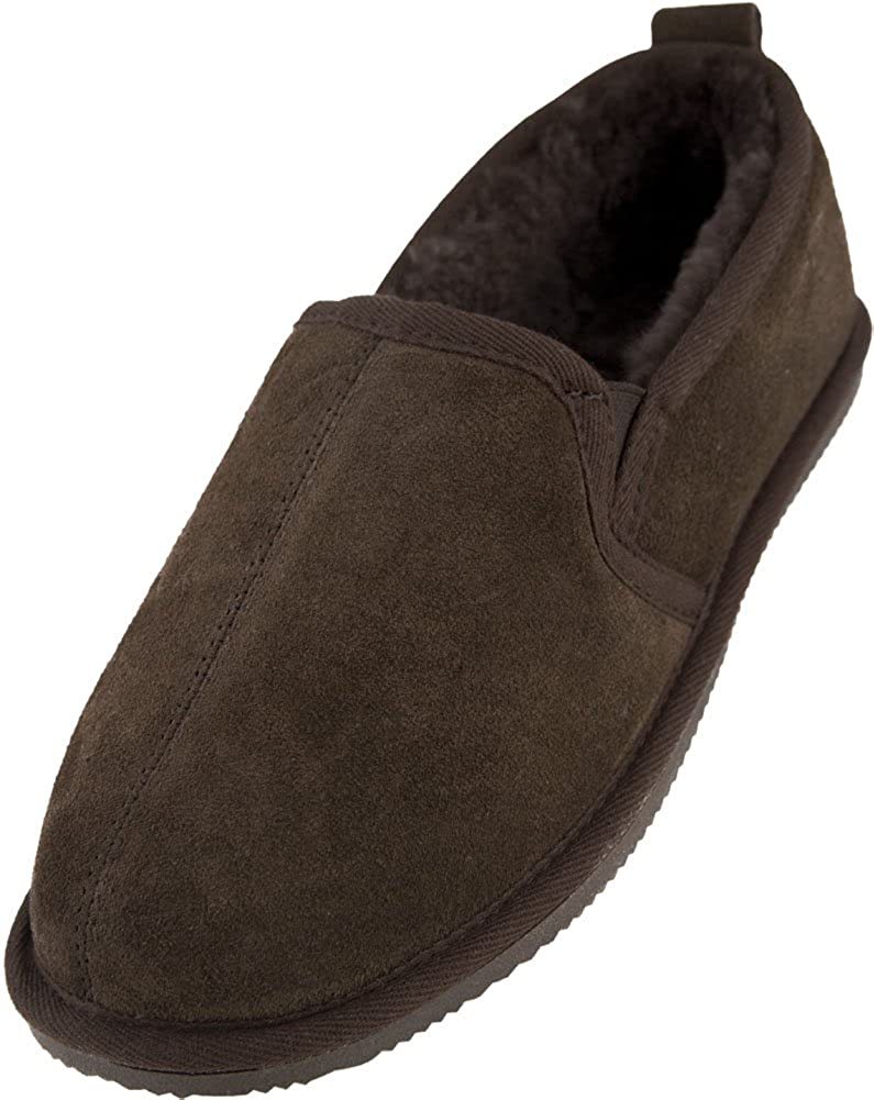 dbfbe0107a0 Lambland Mens Luxury Sheepskin Lined Bootie Slippers
