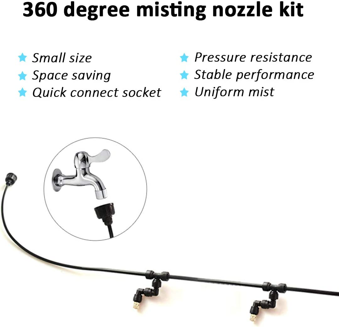 EONBON Misitng System Stainless Steel Misting Nozzles for Pets,Reptiles,Ecological Garden Animals