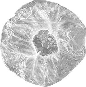 Guozhi 100 Reusable Elastic Food Storage Covers, Plastic Bowl Covers with Elastic Edging, Stretchable Plastic Food Wraps, Elastic Covers for Storage Containers
