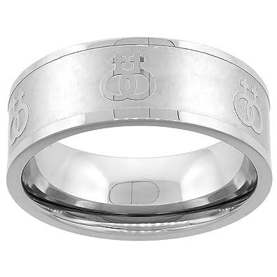 Amazon Stainless Steel Lesbian Symbols Ring 8mm Wedding Band