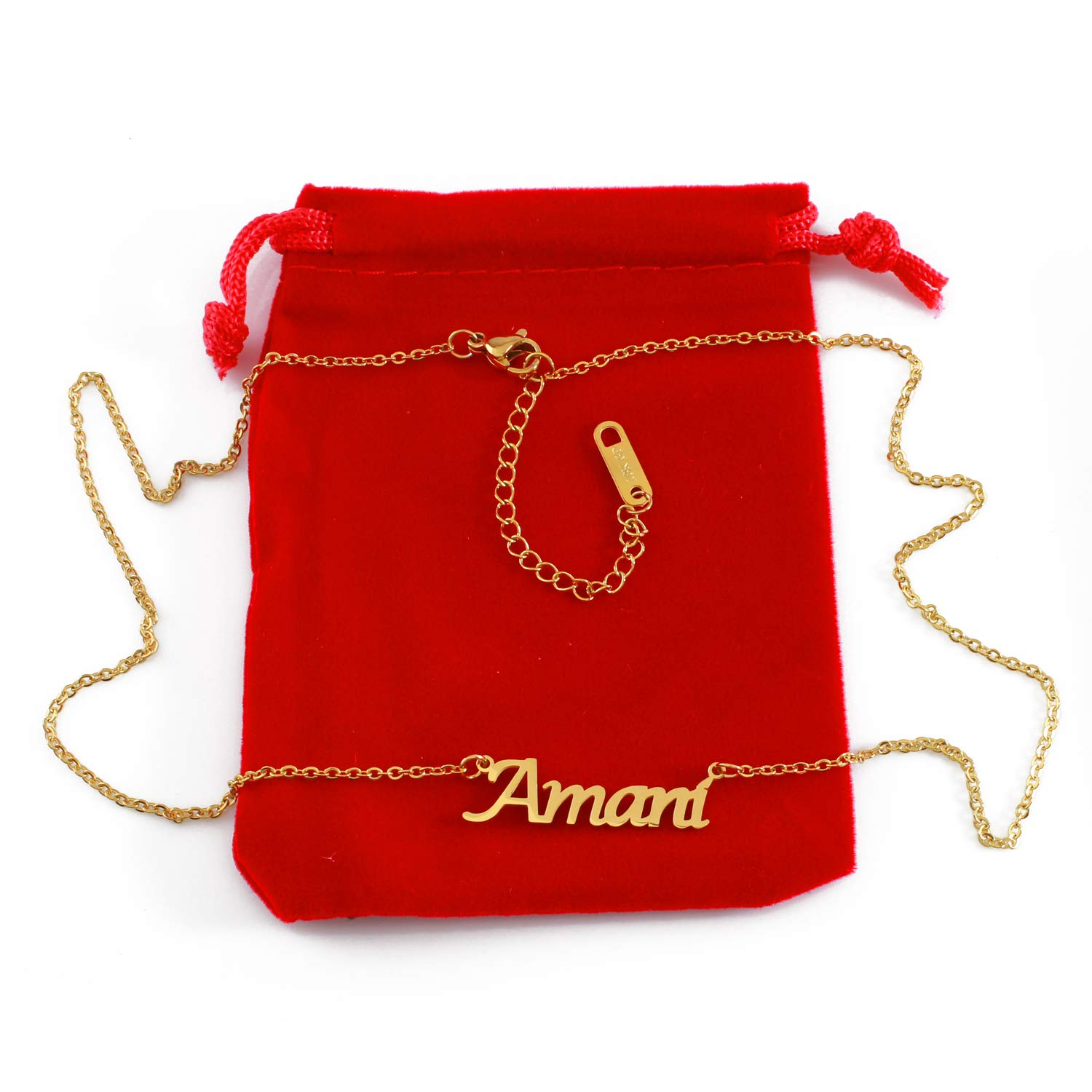 Zacria Amani Name Necklace 18ct Gold Plated