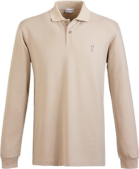 golfino Hombre Golf Polo de manga larga con protección solar ...