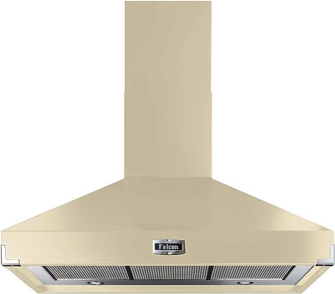 Falcon - Campana extractora para chimenea (100 cm), color crema: Amazon.es: Grandes electrodomésticos
