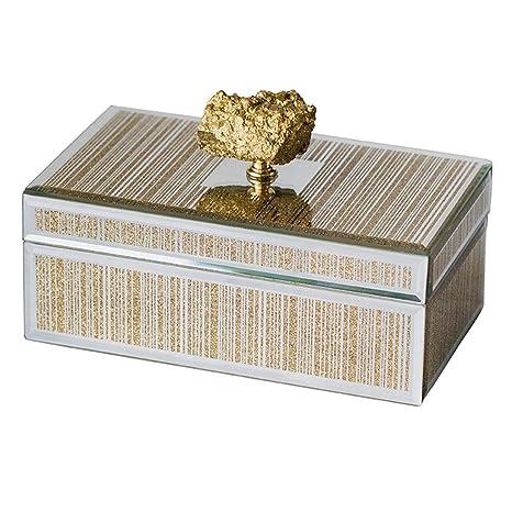 Caja de Almacenamiento de Joyas Organizador de Joyas Caja Decorativa de Vidrio Decoración del hogar (