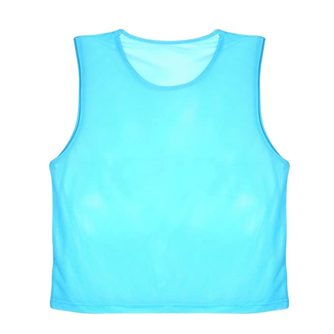 VGEBY 12pcs Petos de Entrenamiento Malla Petos de Fútbol para Adultos  (Color   Azul)  Amazon.es  Deportes y aire libre 142f8cf51957d