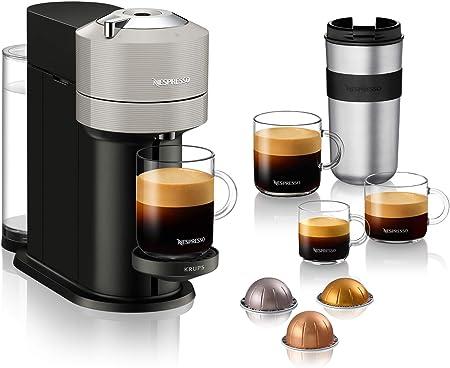 Krups Vertuo Next YY4298FD Cafetera exprés para cápsulas Nespresso, 5 tamaños de taza, 1,1 litros, color gris claro: Amazon.es: Hogar