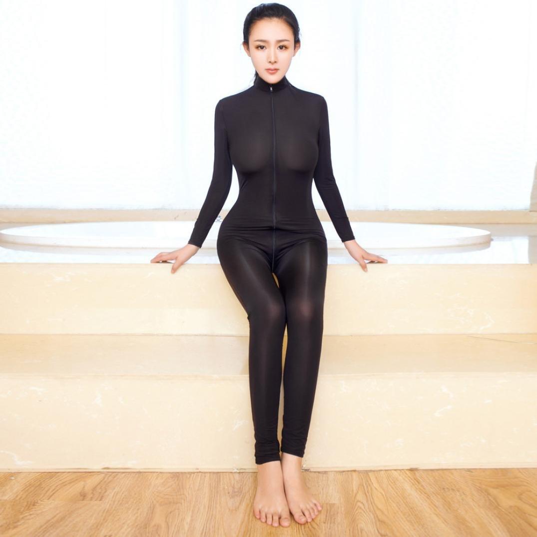 Lenceria erotica de mujer,VENMO Mujeres Desnudas Atractivo Mono Body Zipper Manga Larga Abierta Entrepierna Traje (negro): Amazon.es: Ropa y accesorios
