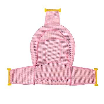 Bath chair Red de Baño/bebé Bolsa de Red de Baño Antideslizante/Baño de bebé Recién Nacido/Ducha Rack/Puede Sentarse/Azul/Polvo (Color : Pink): Amazon.es: ...