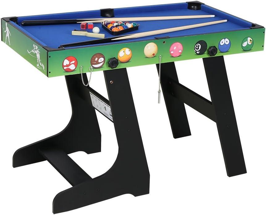 gn02 hj Table Multi Jeux 4 en 1 Pliante-Billard//Babyfoot//Hockey//Tennis de Table