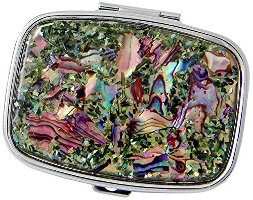 Budd Leather Mother of Pearl Rectangular Pill Box