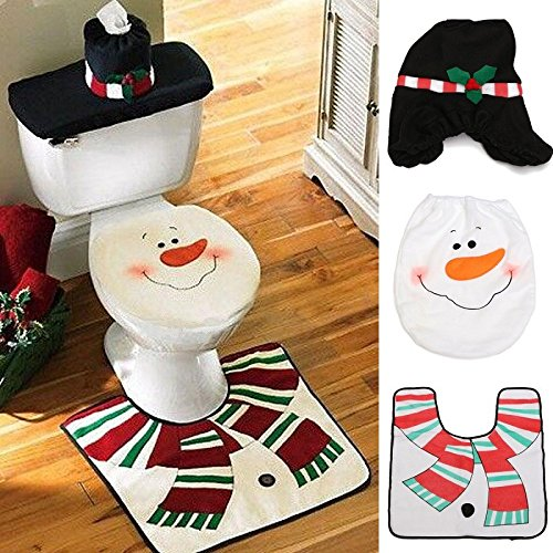 Frosty The Snowman Christmas Bathroom Rugs for Party 3 pc (Sale Surya For Rugs)