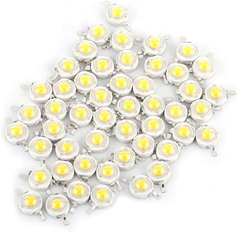 Amazon.com: 50Pcs LED Lamp Beads,1W High Power Led Chip,LED Lamp SMD Chip Light  Bulb,SMD COB 1W Cool/Warm White LED Bead, for Home,Studio,Exhibition  Foodlight/Spotlight Bulb Replacement.: Home Improvement