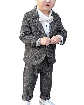 Traje 2 Piezas para Niños, Blazer + Pantalones para Bodas ...