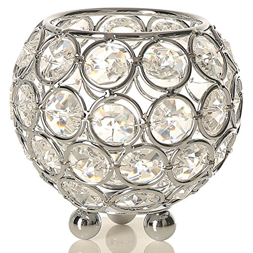 Crystals Flower Candle Holder - 6